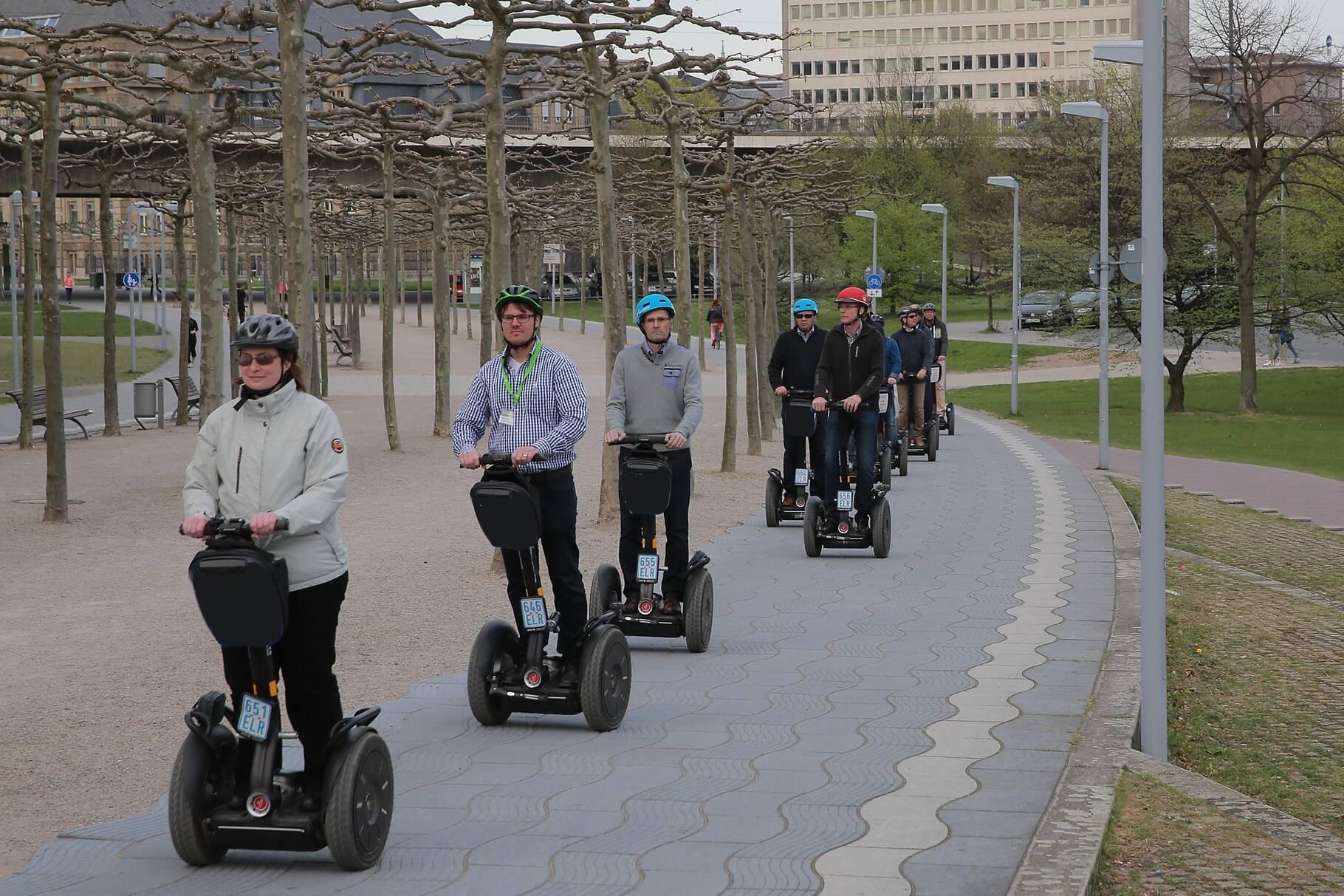 Segway Gruppentour am Landtag
