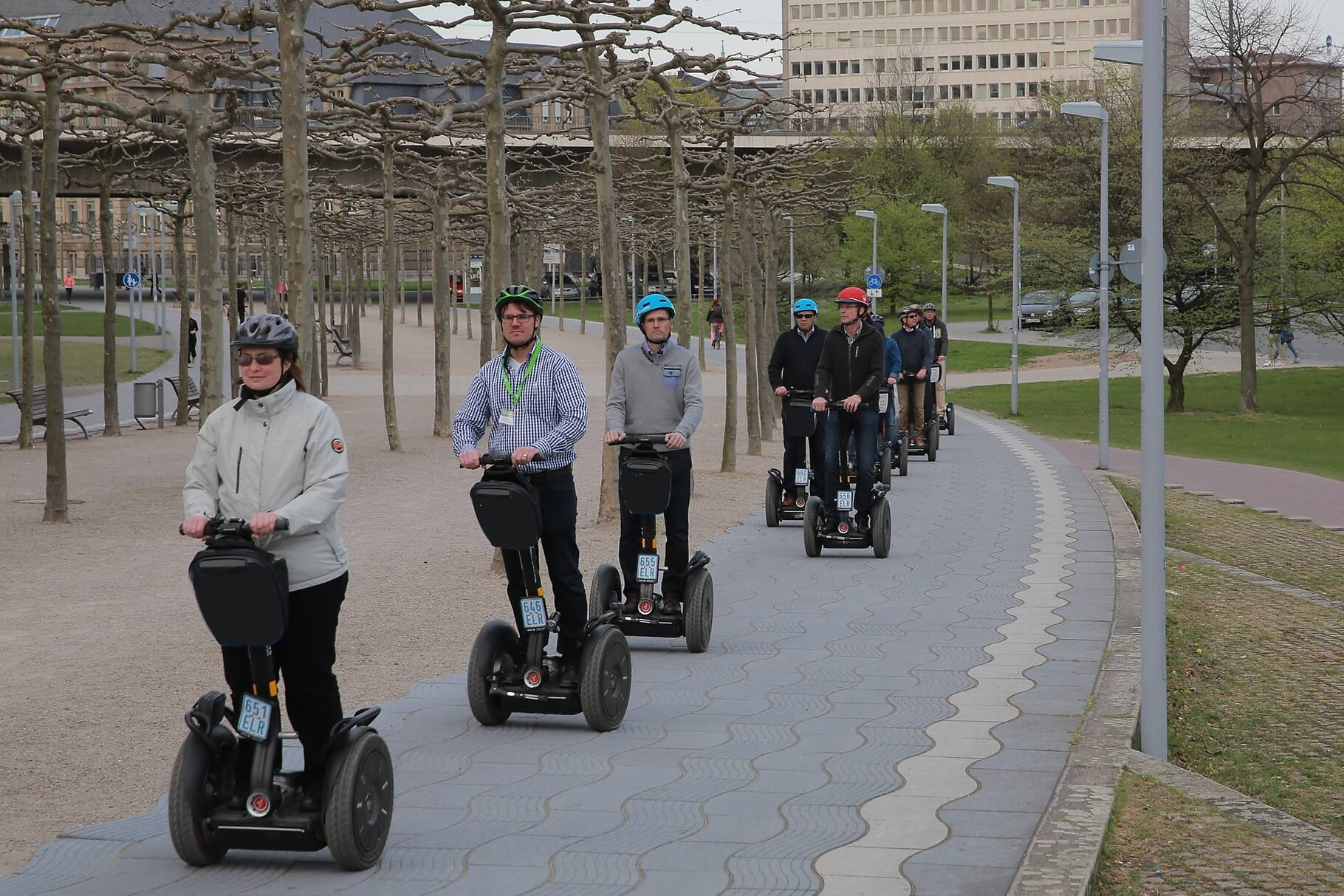 Segway Gruppentouren am Landtag